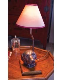 Лампа настольная 'Лабрадор' с абажуром
