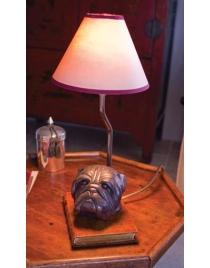 Лампа настольная 'Бульдог' с абажуром