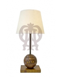 Лампа настольная 'Футбольный мяч' с абажуром