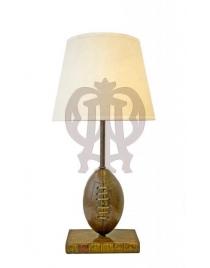 Лампа настольная 'Мяч для регби' с абажуром