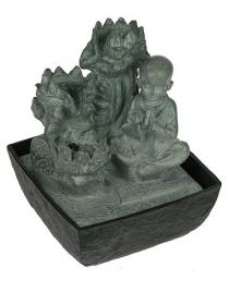 Фонтан декоративный Будда с подсветкой 17*17*22см