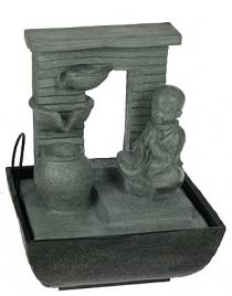 Фонтан декоративный Будда с подсветкой 20*19*26см