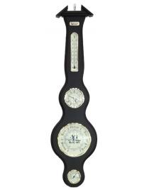 Барометр-метеостанция BRIGANT: барометр, часы, термометр, гигрометр 20*77см