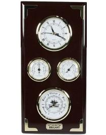 Часы-метеостанция BRIGANT: барометр, термометр, гигрометр 16*32см