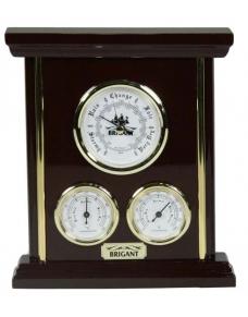 Барометр-метеостанция настольная BRIGANT: барометр, термометр, гигрометр 20*23см