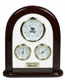 Барометр-метеостанция настольная BRIGANT: барометр, термометр, гигрометр 16*33см