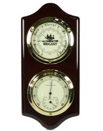 Барометр-метеостанция BRIGANT: термометр, барометр 15*33см
