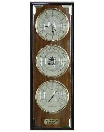 Часы-метеостанция BRIGANT: барометр, гигрометр 14*41см