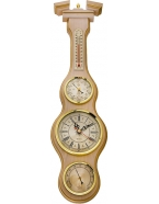 Метеостанция «белое золото» часы,барометр,гигрометр,термометр 60х16 см,д-р барометра 7 см,м-в березы