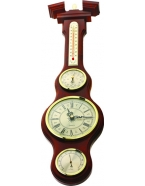 Метеостанция «барокко» часы, барометр, гигрометр, термометр 60х16 см, д-р барометра 7 см, м-в березы