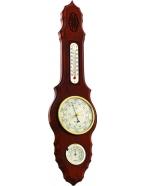 Метеостанция  барометр,термометр, гигрометр 45х11,5 см, диаметр барометра 9 см, массив березы