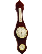 Метеостанция  барометр,термометр, гигрометр 46,5х12 см, диаметр барометра 9 см, массив березы