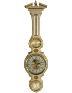 Метеостанция «белое золото» часы,барометр,гигрометр,термометр 80х21 см,д-р барометра 9 см,м-в березы