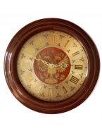 Часы «Герб РФ», цвет барокко, диаметр 34 см, массив березы