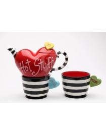 Чайный сет на 2 персоны Коллекция 'Счастливые Сердца'