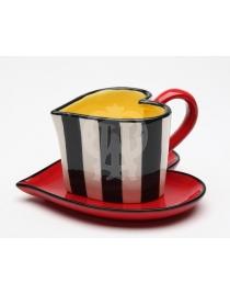 Чайная пара Полоска Коллекция 'Счастливые Сердца'