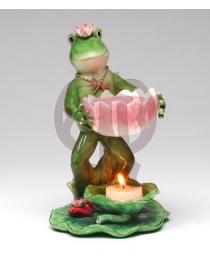 Подсвечник для чайной свечи 'Лягушка'