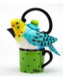 Чайный сет на одну персону Птица/Клетка для птицы