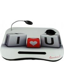Столик для ноутбука Я тебя люблю с подсветкой 48*38*8см