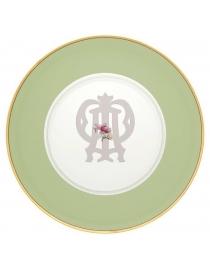 Тарелка подстановочная Зеленая Авалон