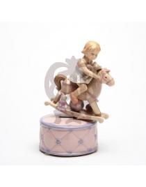 Шкатулка музыкальная (розовый)