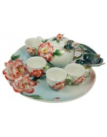 Подарочный набор для чайной церемонии Райская птица на 4 персоны