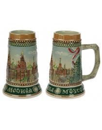 Пивная кружка коллекционная Москва 19см, 950мл
