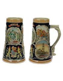 Пивная кружка коллекционная Замки Баварии 22см, 900мл