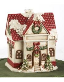 Банка для печения и конфет Дом перед Рождеством