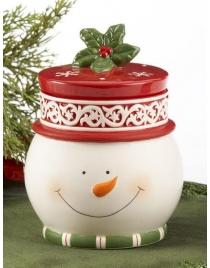 Банка Снеговик Керамика 16см