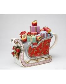 Чайник Сани Рождественские Викторианская коллекция