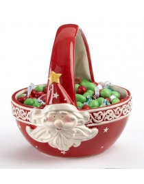 Корзинка для конфет и печения 'Санта' Керамика 20см