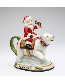 Чайник 'Санта на Белом Медведе'