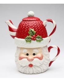 Подарочный чайный набор на одну персону 'Санта'