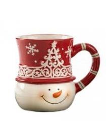Кружка 'Снеговик' керамика 10см