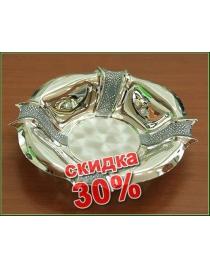 Вазочка-конфетница со стразами Swarovski