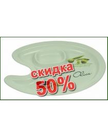 Тарелка для оливок и маслин 26*22*3см
