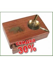 Сувенир-пепельница Слон с ящичком для сигарет 18*11см