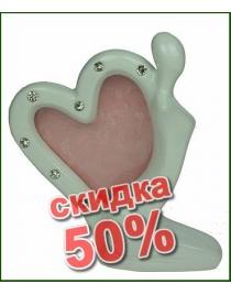 Фоторамка Сердце 15см