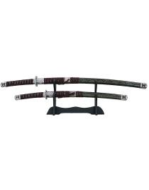Набор самурайских мечей: катана и вакидзаси на подставке 100см