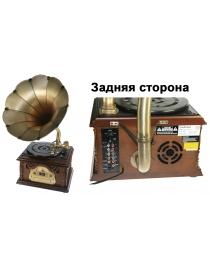 Музыкальный центр-ретро  Граммофон. Функции: AM/FM, винил,CD/DVD/USB-плеер 40*33*80см