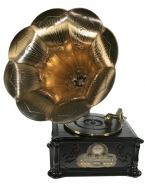 Музыкальный центр-ретро Граммофон: винил, AM/FM, CD, MP3, USB, SD 39*45*85см