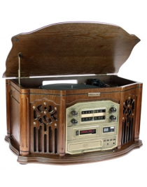 Музыкальный центр-ретро. Функции: винил, AM/FM, CD, аудио 56*36*30см