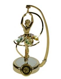Фигурка декоративная с часами  Балерина 7*14см