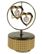 Фигурка декоративная Сердца на музыкальной подставке 8*11см