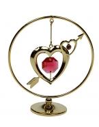 Фигурка декоративная Сердце на подвеске 7*8см