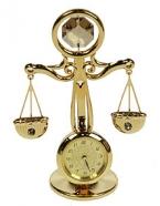 Фигурка декоративная с часами Весы
