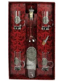 Подарочный набор для водки (олово 95%, стекло) 35см