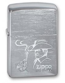 Зажигалка ZIPPO Cowboy Brushed Chrome, латунь с никеле-хромовым покрытием, цвет серебристый, матовая с гравировкой, 56х36х12 мм