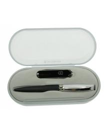 Подарочный набор Victorinox: нож, ручка CARAN DACHE 16*7см